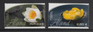 Aland MNH 2013 Set of 2 Water lilies - white and yellow