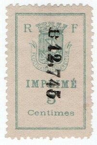 (I.B) France Local Post : Paris Private Delivery 5c (Imprime)