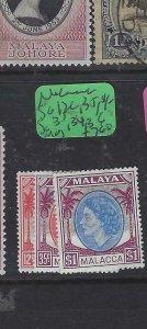 MALAYA  MALACCA  (PP2901B)  QEII  12C, 35C, $1  SG 31, 34, 36  MOG