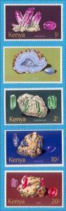 Kenya 105-107, 110 & 111 Neuf sans Charnière Minéraux N° Défauts Très Fine