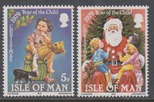 Isle of Man 156-157 Christmas MNH VF