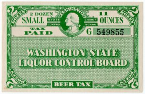 (I.B) US Revenue : Beer Tax Paid (Washington)