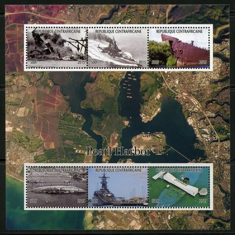 Central Africa MNH S/S Pearl Harbor 2015 Newer Release