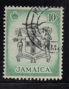 Jamaica Sc 173 1956 10/ Coat of Arms stamp used