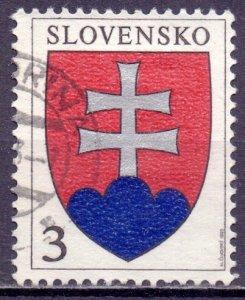 Slovakia. 1993. 163. Emblem. USED.
