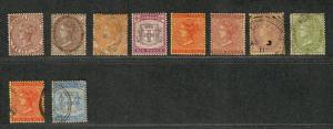 Jamaica Sc#46a-54 M+U/H/F-VF, Complete Set, Cv. $410