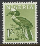 Nigeria  SG 96 SC# 108 MH 1961 Definitive Hornbill  please see scan