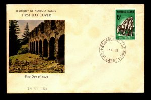 Norfolk Islands 1965 ANZAC FDC / Very Light Staining - L9190
