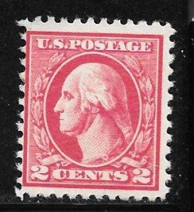 USA 527: 2c Washington, offset, Type V, unused, NG, F