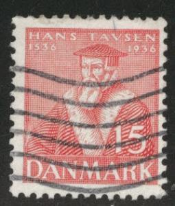 DENMARK  Scott 255 stamp  1936