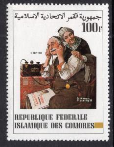Comoro Islands 563 Norman Rockwell MNH VF