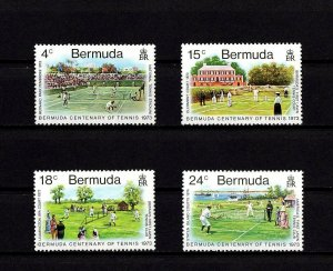 BERMUDA - 1973 - TENNIS CENTENARY - PEMBROKE - LEAMINGTON SPA ++ MINT MNH SET!