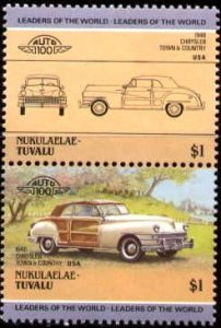 Automobile, 1948 Chrysler Town & Country, Tuvalu Nukulaelae stamp SC#34 MNH