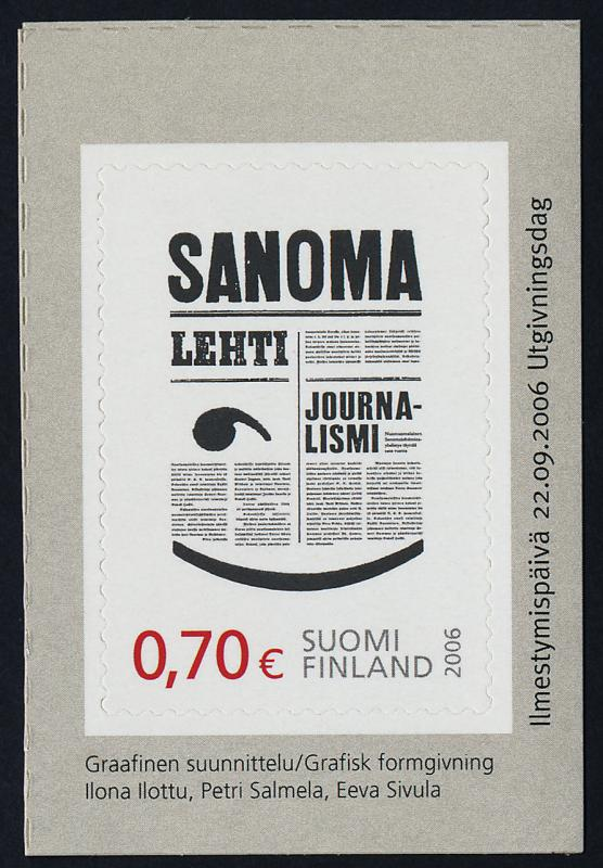 Finland 1269 MNH Newspaper Journalism