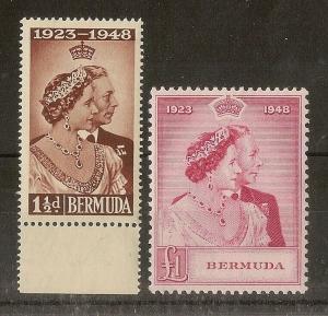 Bermuda 1948 Royal Silver Wedding Pair MNH