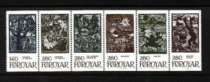 Faroe Is.-Sc#120a-unused NH booklet pane-Fairytale Illustrations-1984-