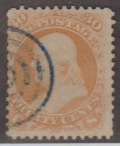U.S. Scott #63 & 71 Franklin Stamp - Cat $240 - Used Set