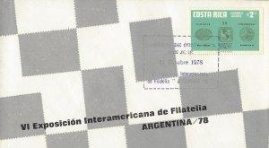 COSTA RICA PHILATELIC EXHIBITION ARGENTINA 78 Sc C714 FDC 1978