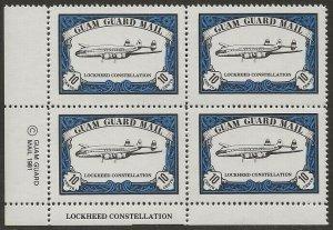Guam Guard Mail 1981 Local Post LOCKHEED CONSTELLATION Airplane BLOCK VF-NH