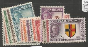 Sarawak 1950 SG 171-85 MOG (4csl)