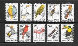 BIRDS - NETHERLANDS ANTILLES #784-93  MNH