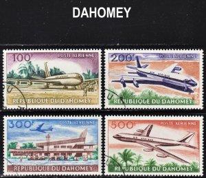 Dahomey Scott C20-23 complete set F to VF CTO.