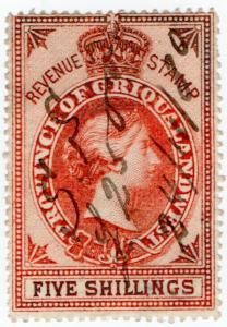 (I.B) Griqualand West Revenue : Duty Stamp 5/-