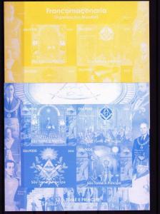 Freemasonry St.Thomas 2004 Progressive Proofs 4+Original MNH