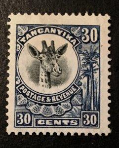 Tanganyika Scott 18 Giraffe Definitive 30 Cent-HR