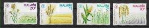 #8498 MALAWI  FLORA  FLOWERS  FRUITS YV 370-3 MNH