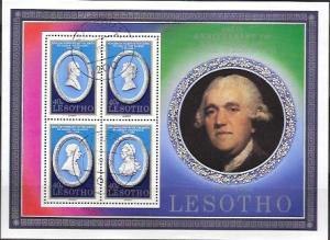 Lesotho cancelled Souvenir Sheet. Josiah Wedgwood #301