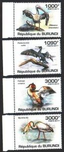 Burundi. 2011. 2030-33. Birds, fauna. MNH.