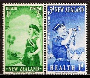 New Zealand SC#B54-B55 BOY BRIGADE Health Stamps (1958) MNH