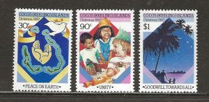 Cocos Islands Scott catalog # 169-171 Mint NH