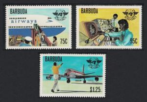 Barbuda 30th Anniversary of International Civil Aviation Organization 3v
