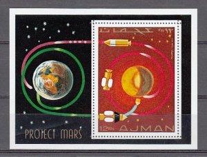 Ajman, Mi cat. 684, BL232 A. Project Mars s/sheet. ^