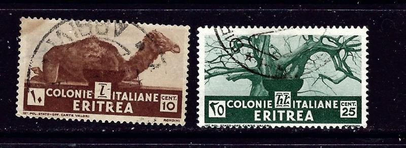 Eritrea 160 and 162 Used 1934 issues