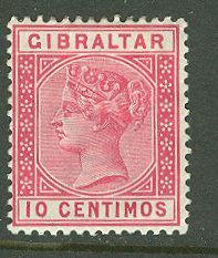 Gibraltar # 30 Queen Victoria 1889 - 10 centimos (1) Unused