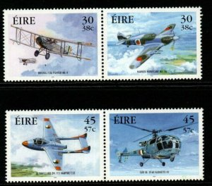 IRELAND SG1364/7 2000 MILITARY AVIATION MNH