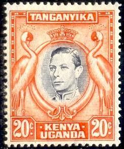 Kavirondo Cranses, Kenya, Uganda & Tanzania stamp SC#74 Mint