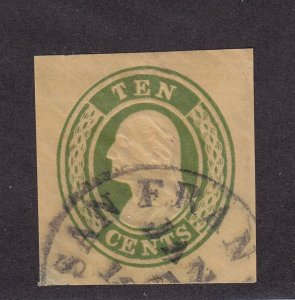 U16 VF used cut square with nice color scv $ 90 ! see pic !