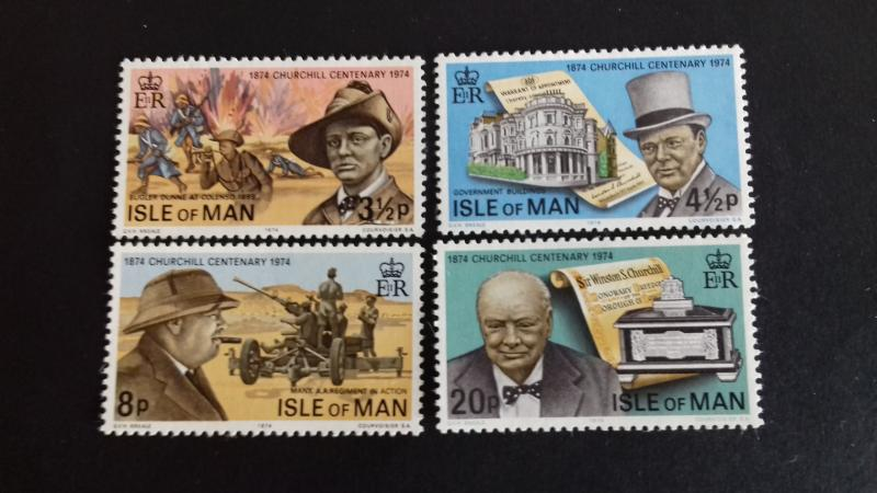 Isle of Man 1974 100th Anniversary of the Birth of Sir Winston Churchill Mint