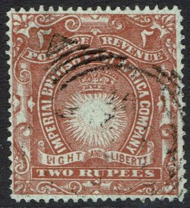 BRITISH EAST AFRICA 1890 LIGHT AND LIBERTY 2R USED