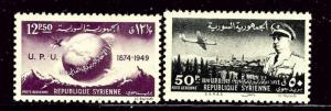 Syria C154-55 MH 1949 UPU set