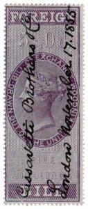 (I.B) QV Revenue : Foreign Bill 5/- (1854)