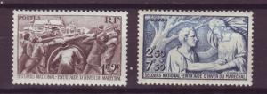 J16269 JLstamps 1941 france set mh #b112-3 designs