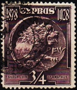 Cyprus. 1928 3/4pi S.G.123 Fine Used
