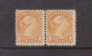 Canada #35d Mint Fine Lightly Hinged Perf 11.5 x 12 Scarce Pair *W\ Certificate*