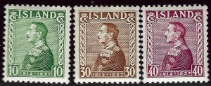 Iceland SC#199-201 Mint F-VF...Quality lot!!