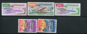 Guinea #C24-6 Plus Booklet Stamps (footnoted) MNH